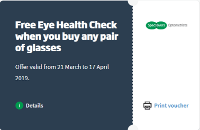 Offers and coupon of Specsavers