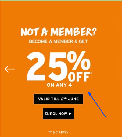 Offers and coupon for The Body Shop