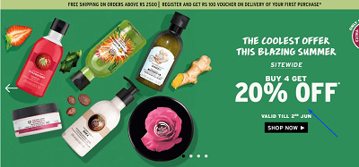 Offers and coupon for The Body Shop1