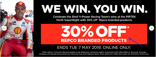 offers and coupon for repco