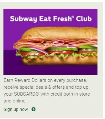 subway offer