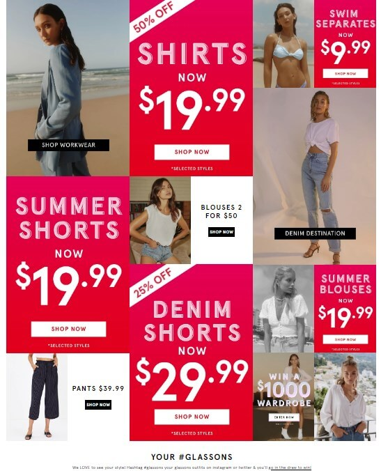 glassons offer